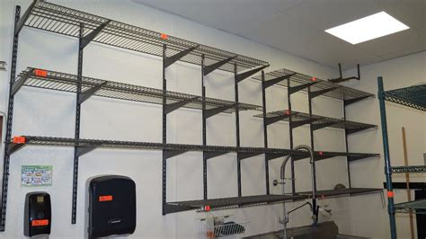 approx 10 closet wall mounted wire shelving 16
