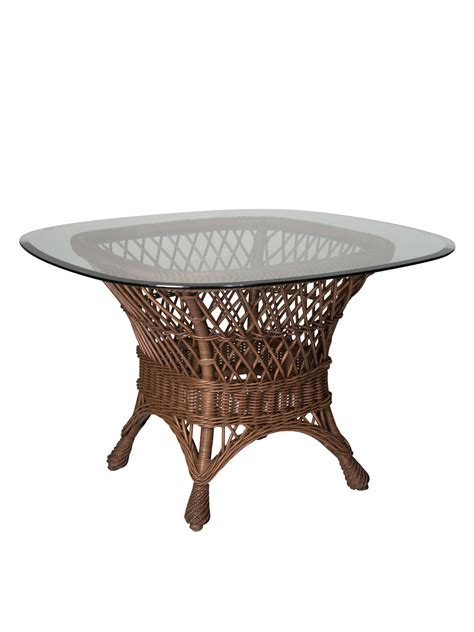 Wicker Dining Tables Wicker Dining Table Base Cottage Home 174