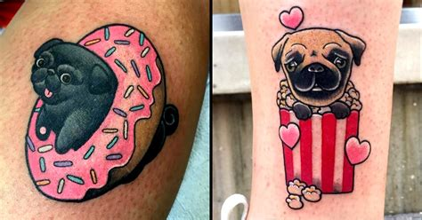 why do pugs the air awesome creative pug tattoos tattoodo