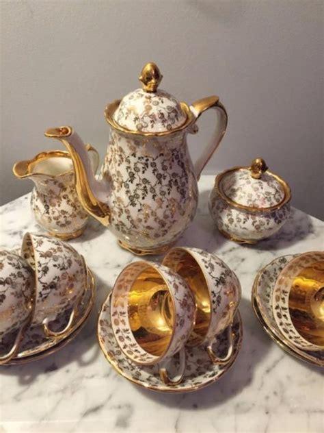 Vintage Set Af antique 22 kt gold porcelain germany bavaria