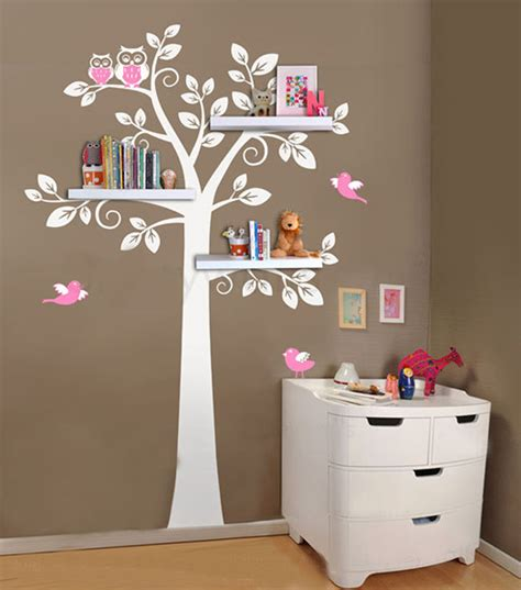 Modern Nursery Wall Decor Aliexpress Buy Wall Shelf Tree Nursery Wall Decals Decorative Wall Shelves Modern Wall
