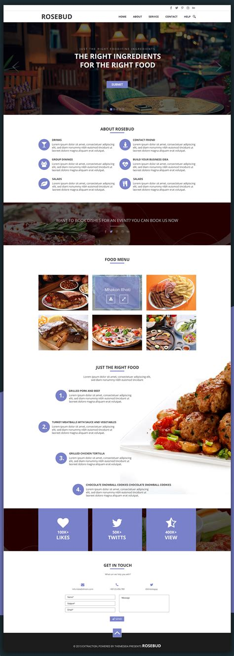 rosebud one page template free download free html5 templates