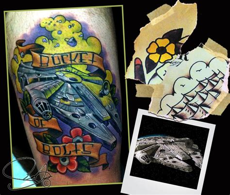 tattoo shops in st cloud mn millenium falcon by scotty munster tattoonow