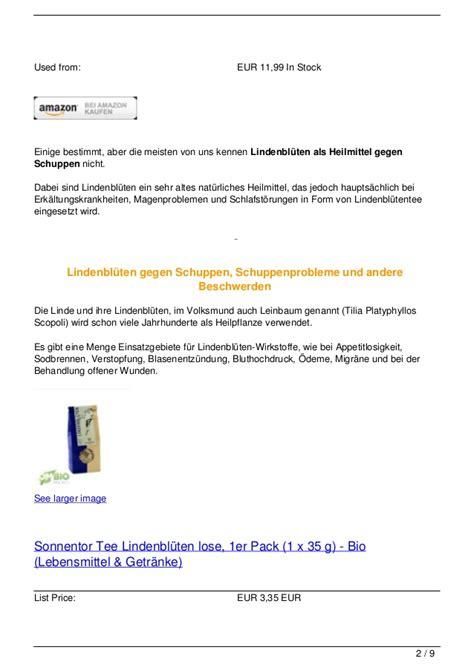 Lindenbl 252 Ten Gegen Schuppen
