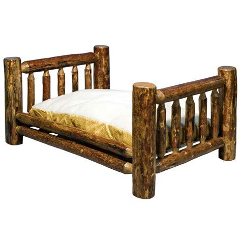 rustic log beds log dog beds log cat beds rustic log furniture by amish