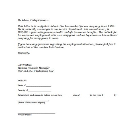 Reference Letter For Employment Verification Sle Employment Letter 13 Free Documents In Word Pdf