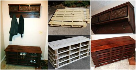 diy pallet shoe bench how to make diy pallet shoe storage bench how to
