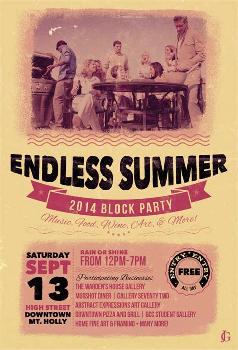 Party Flyer Exles Free Premium Templates Block Flyer Template Summer