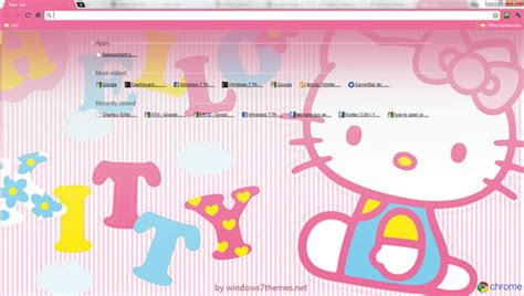 kitty themes free download hello kitty google chrome theme