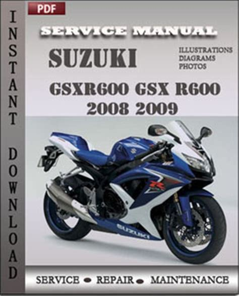 Suzuki Repair Suzuki Gsxr600 Gsx R600 2008 2009 Repair Manual Pdf