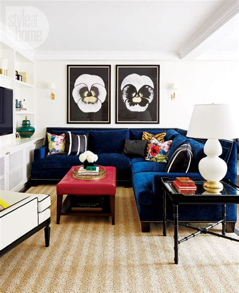 blue couch living room blue velvet couches