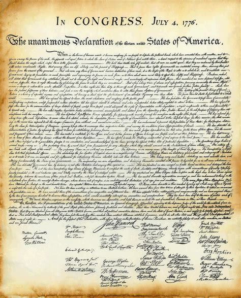 printable declaration of independence is it real