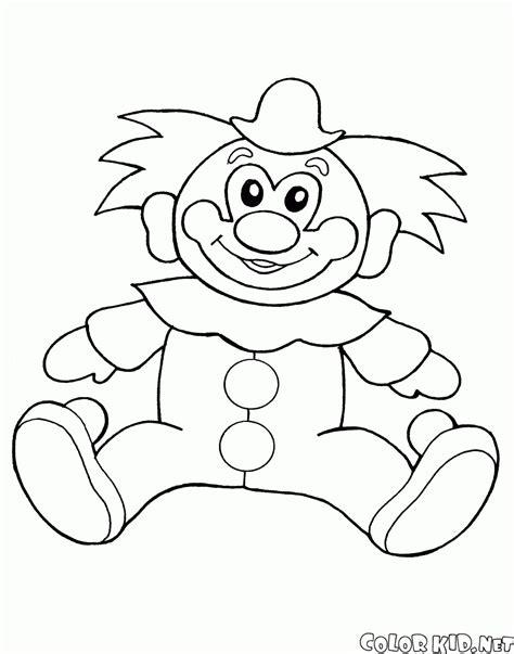 dibujos infantiles para colorear de payasos dibujo para colorear juguete del payaso