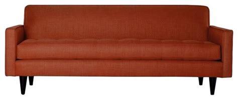 tangerine sofa monroe apartment sofa tangerine midcentury sofas