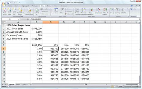 two variable data table excel what if with excel 2007 s data tables dummies