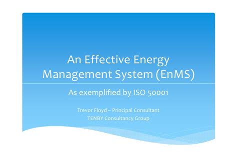 Effective Implementation Of An Iso 50001 Energy Management System Enms an effective energy management system enms as exemplified by iso 50