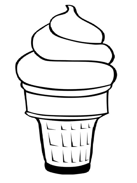 free coloring pages of ice cream cones clip art ice cream cone cliparts co