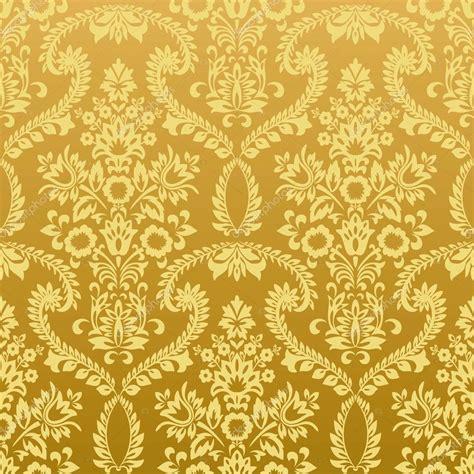 gold vintage pattern background seamless floral vintage gold wallpaper stock vector