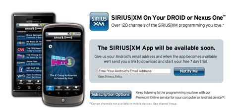 Lepaparazzi News Update Sirius Xm See Deal Closing In 2007 by Sirius Xm Radio App Headed To Motorola Droid Droid