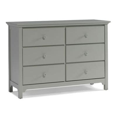 ti amo dresser hutch ti amo 6 drawer double dresser in misty grey bed bath