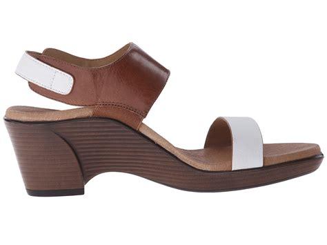 zappos wedge sandals aetrex peyton wedge sandal cognac zappos free