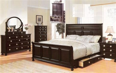 espresso queen bedroom set acme furniture amherst espresso finish wood queen