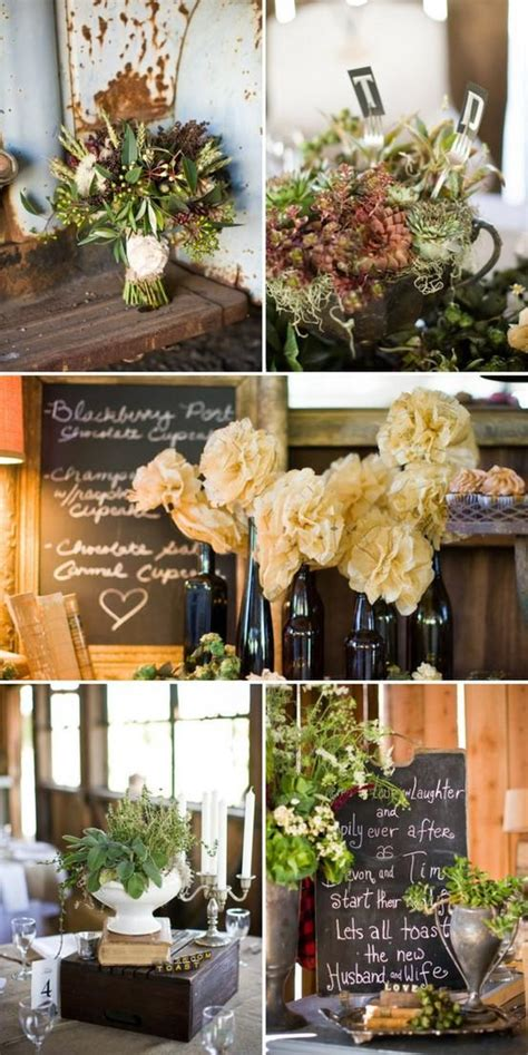 Rustic Decorations by Rustic Wedding Rustic Wedding Reception Decor 797351
