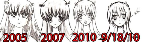 drawing style over the years by azurebladexiii on deviantart