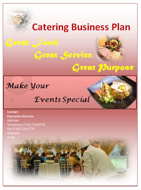 catering business plan sle pdf easy products to