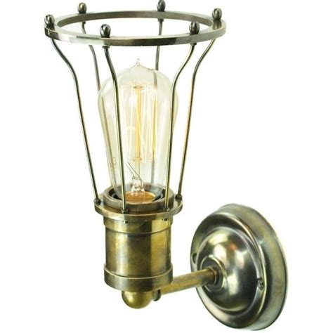 antique silver industrial style wall light with well glass shade industrial factory style wall light antique metalwork