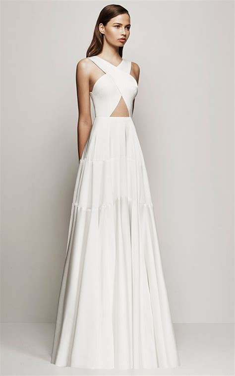 Longdress White 25 best ideas about white gowns on sleeved