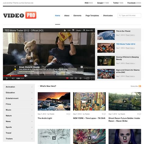 videopro theme 30 best wordpress responsive themes for videos