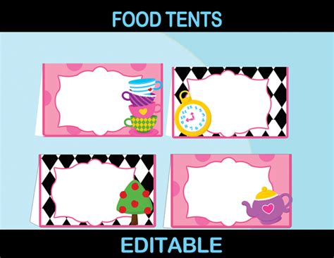 Wall Stickers Hearts alice in wonderland party package mad hatter par tea