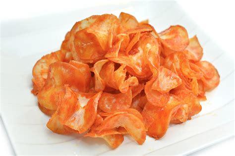 keripik kentang pedas manis renyah resep  masakan