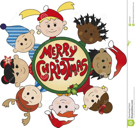 children of christmas stock illustration image of season