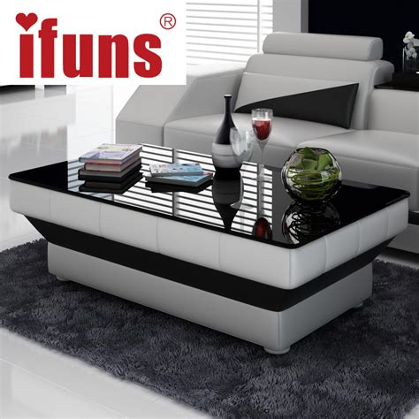 Living Room Table Designs Ifuns New Design Special Coffee Table Tea For Living Room Furniture Leather Glass Panel Wooden