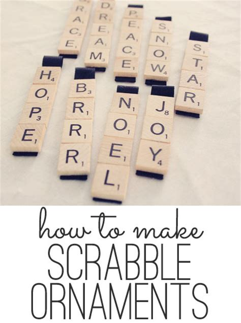yule scrabble scrabble ornaments easy craft tutorial