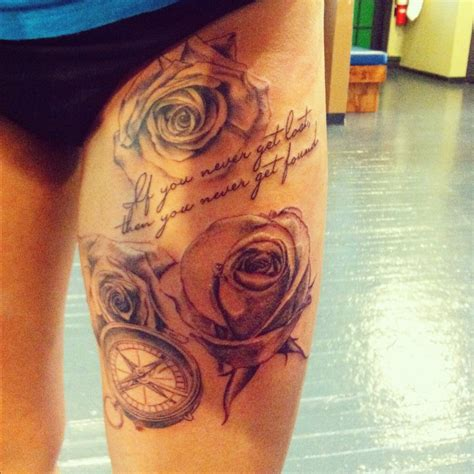 girl tattoos on thigh thigh tattoos for
