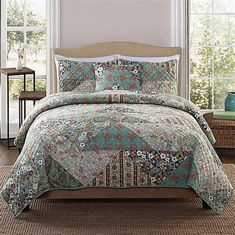 Country Patchwork Quilt Sets - country triangle patchwork quilt set bed bath beyond