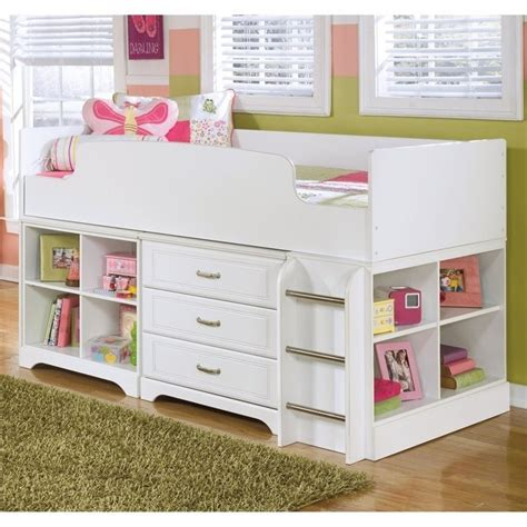 Lulu Bunk Bed Lulu Wood Cubby Drawer Storage Loft Bed In White B102 16 17 19 68t Kit