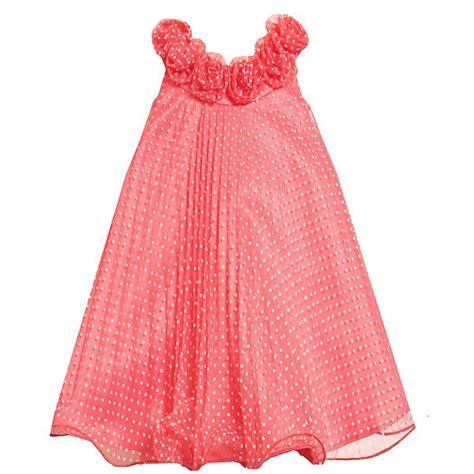 Sale Bj 4353 Mesh Sleeveless Dress bonnie jean coral dot pleated mesh dress 7 16