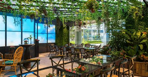 garden themed cafes  singapore   dose  greenery