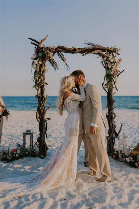 Glamorous Barefoot Pensacola Beach House Wedding   Junebug