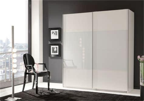 White Wardrobe With Sliding Doors by Verona Sliding Door Wardrobe Cupboard White Glass And Matt