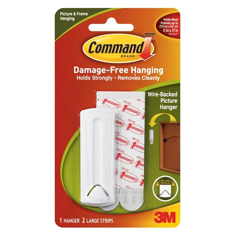 Command Adhesive Shelf by 3m Command White Plastic Wire Backed Picture Hanger Pack