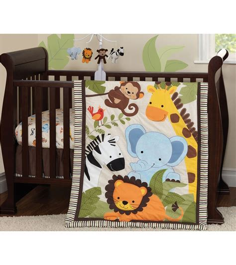 Jungle Crib Sheets by Bedtime Originals Jungle Buddies 3 Crib Bedding Set