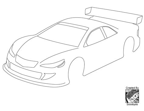 template for a car blank templates for designing on paper page 56 r c