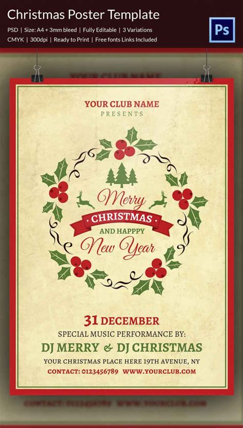 templates for christmas posters 22 christmas posters psd format download free