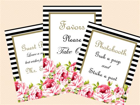 printable bridal shower signs floral chic printable wedding signs bridal signs