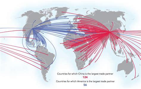 maps showing chinas rising dominance  trade